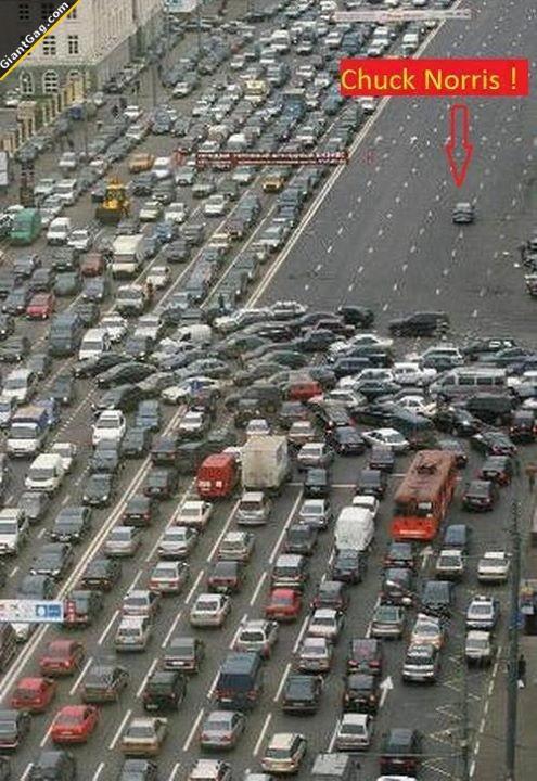 Chuck Norris In Traffic Jam