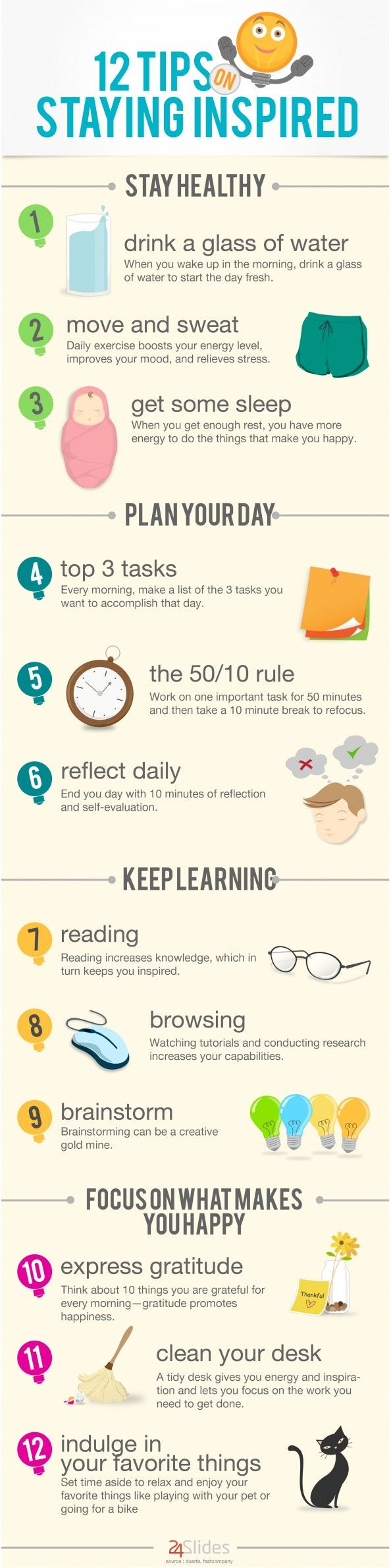 12 Tips To Stay Inspired