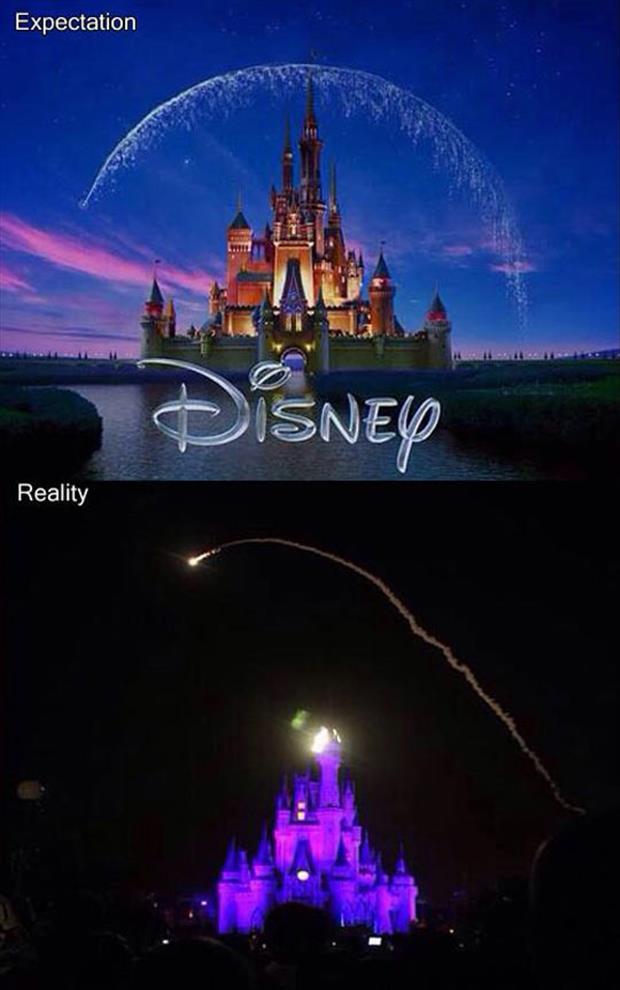 Disney Fireworks, Expectation Vs Reality
