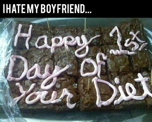 Happy 1st Day Of Your Diet Cake