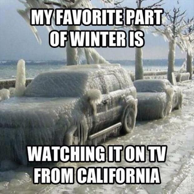 My Favorite Part Of Winter Is Watching It On Tv From California