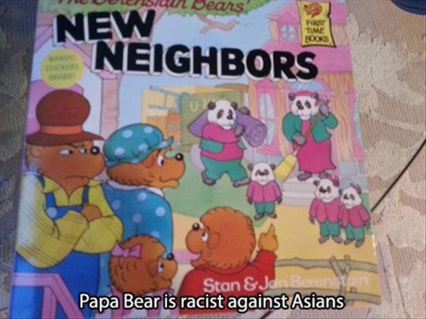 Papa Bear Is Racist Against Asians