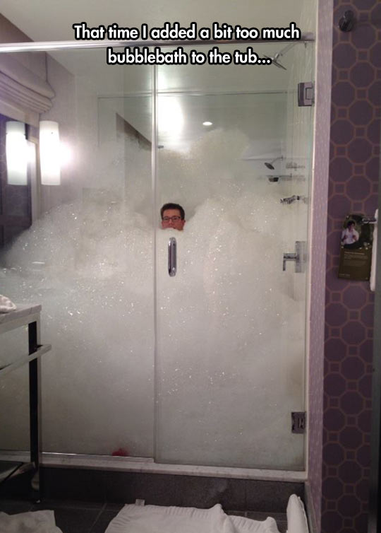 That Time I Added A Bit Too Much Bubblebath To The Tub