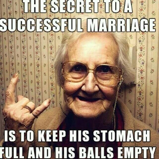 The Secret To A Successful Marriage Is ...