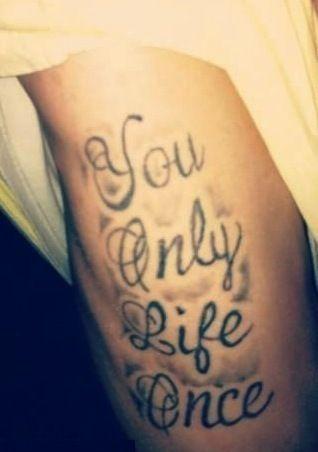 Yolo Tattoo Fail