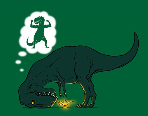 T-Rex And The Magic Lamp