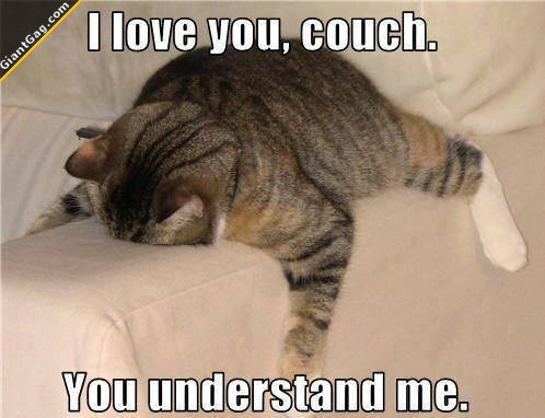 I Love You Couch You Understand Me