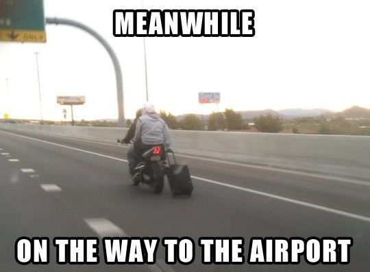Meanwhile On The Way To The Airport