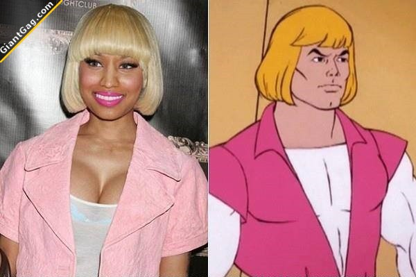 Nicki Minaj Totally Looks Like He-Man