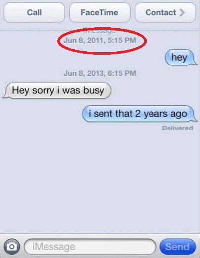 Sorry I Was Busy, I Sent That 2 Years Ago