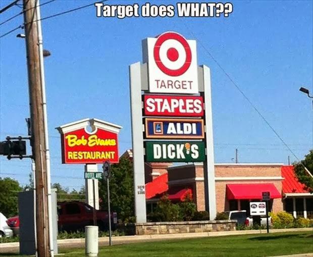 Target Staples Aldi Dick's