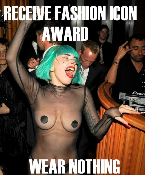 Lady Gaga Wears Nothing ...
