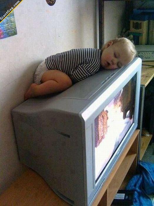Baby Sleeping On Tv