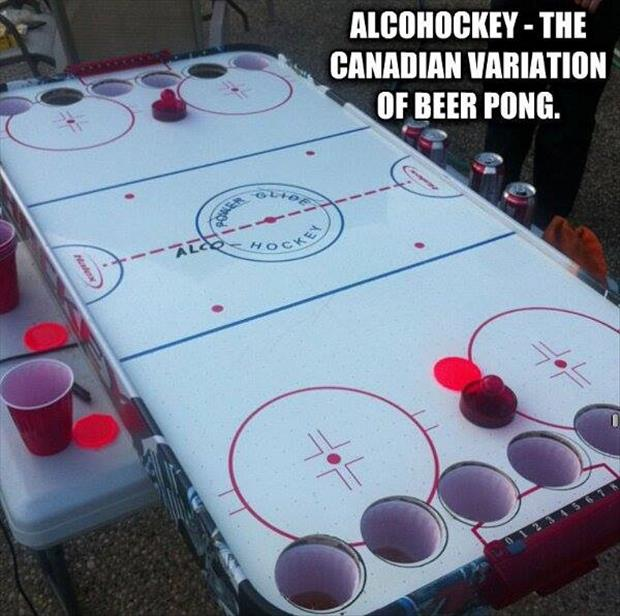 Alcohockey - The Canadian Variation Of Beer Pong