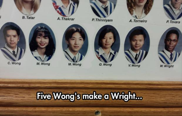 Five Wong's Make A Wright