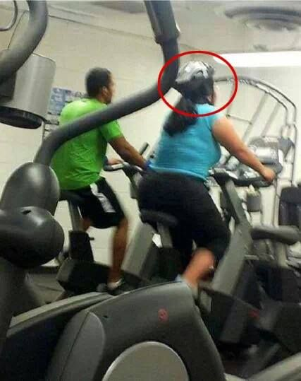 Helmet On Treadmill Fail