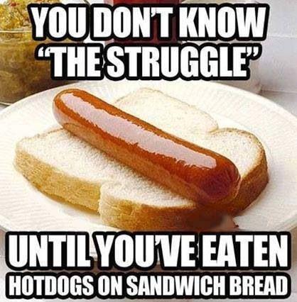 Hotdogs On Sandwich Bread Struggle