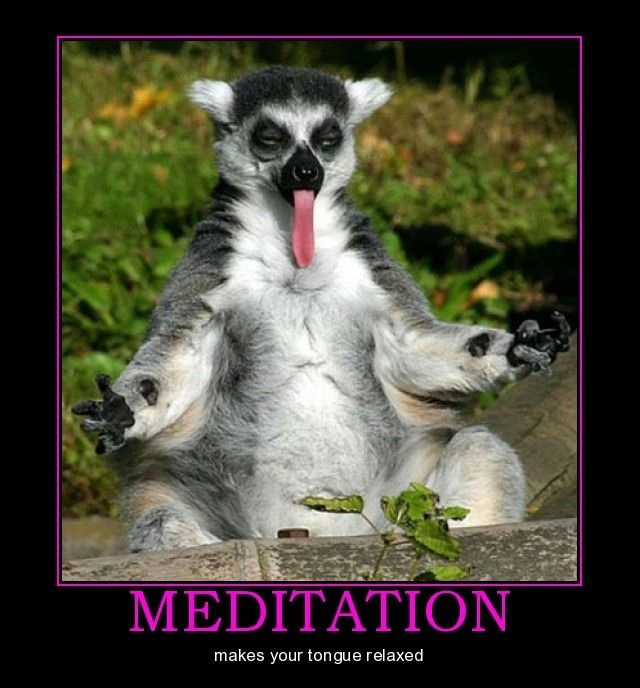 Mediation Makes Your Tongue Relaxed