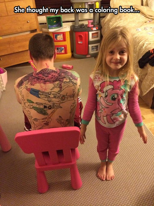 She Thought My Back Was A Coloring Book