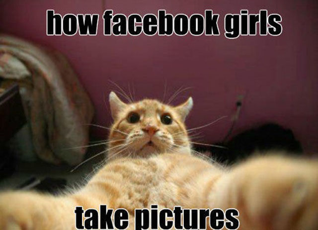 How Facebook Girls Take Pictures
