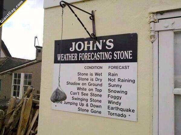 Jonh's Wheather Forecast Stone