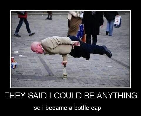 And I Became A Bottle Cap